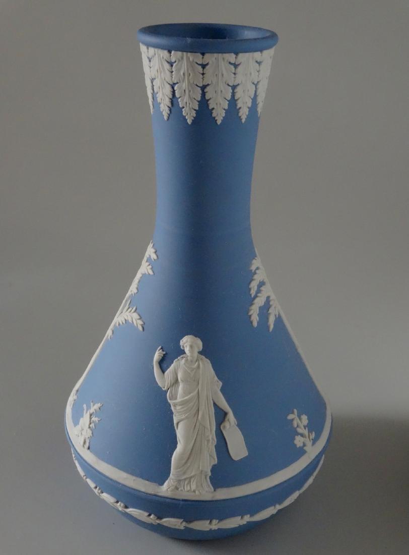 Wedgwood England Blue Jasper Budvase Flower Vase - 2