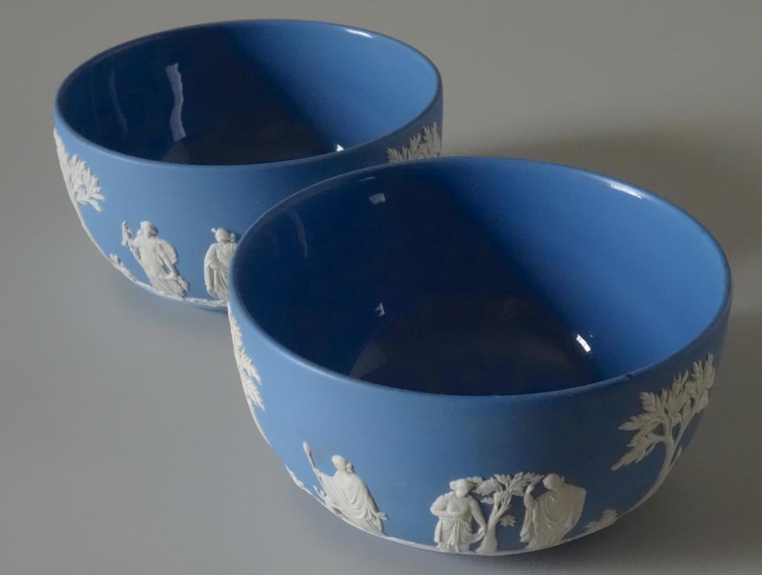 Wedgwood Pair Blue Jasper Large Bowl Lot of Two