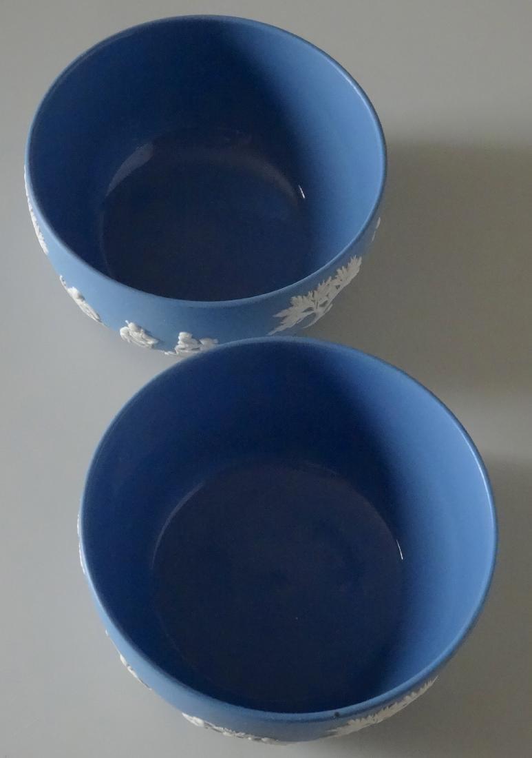 Wedgwood Pair Blue Jasper Large Bowl Lot of Two - 2