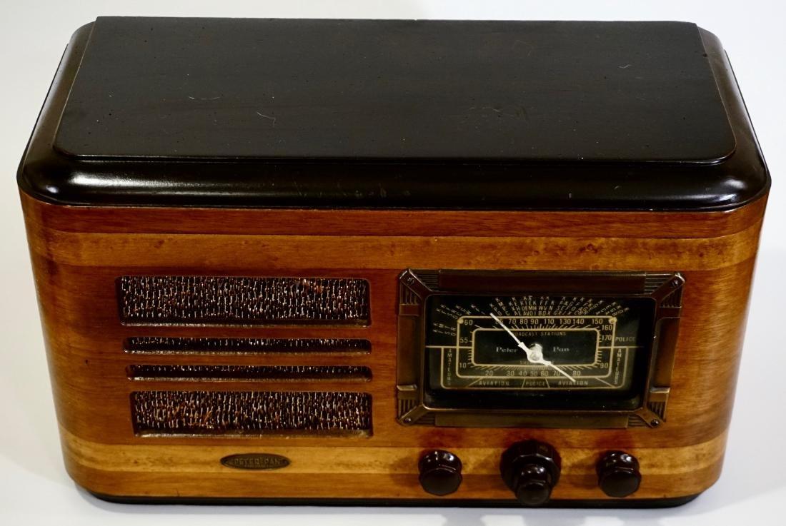 Jackson Bell Peter Pan Model 45 Tube Radio Broadcast