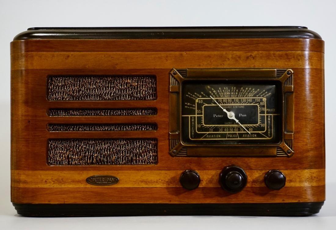 Jackson Bell Peter Pan Model 45 Tube Radio Broadcast - 2
