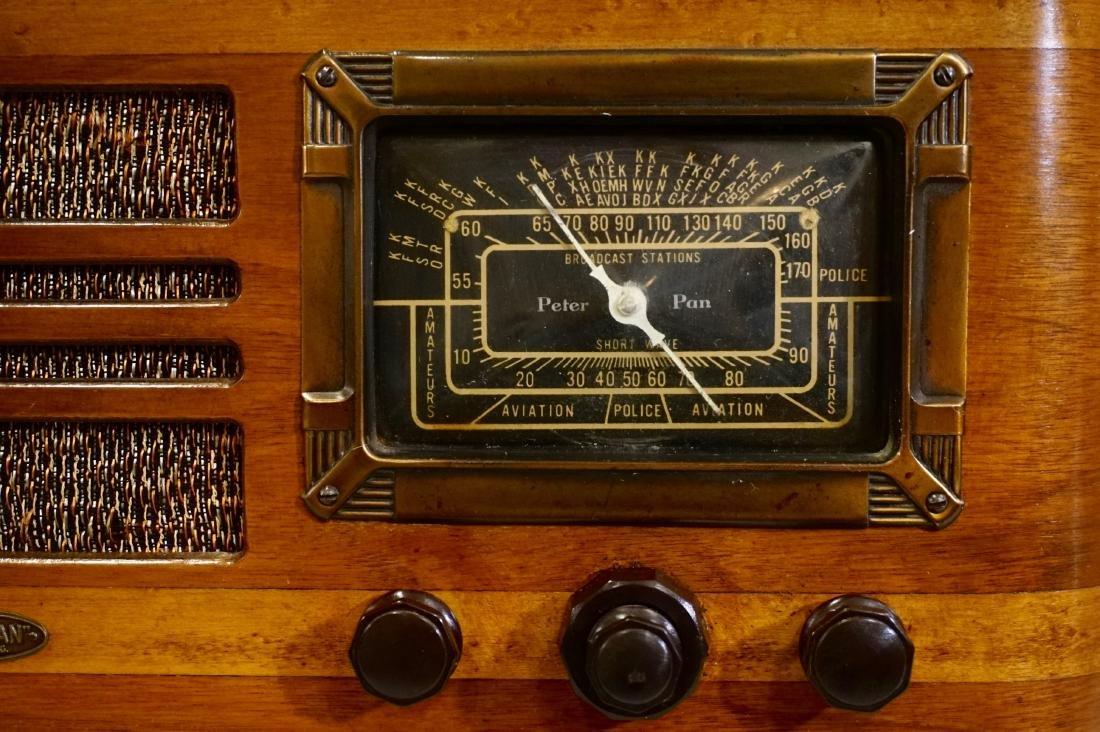 Jackson Bell Peter Pan Model 45 Tube Radio Broadcast - 3