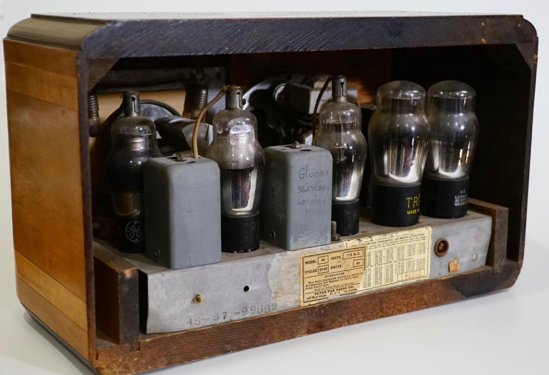 Jackson Bell Peter Pan Model 45 Tube Radio Broadcast - 7