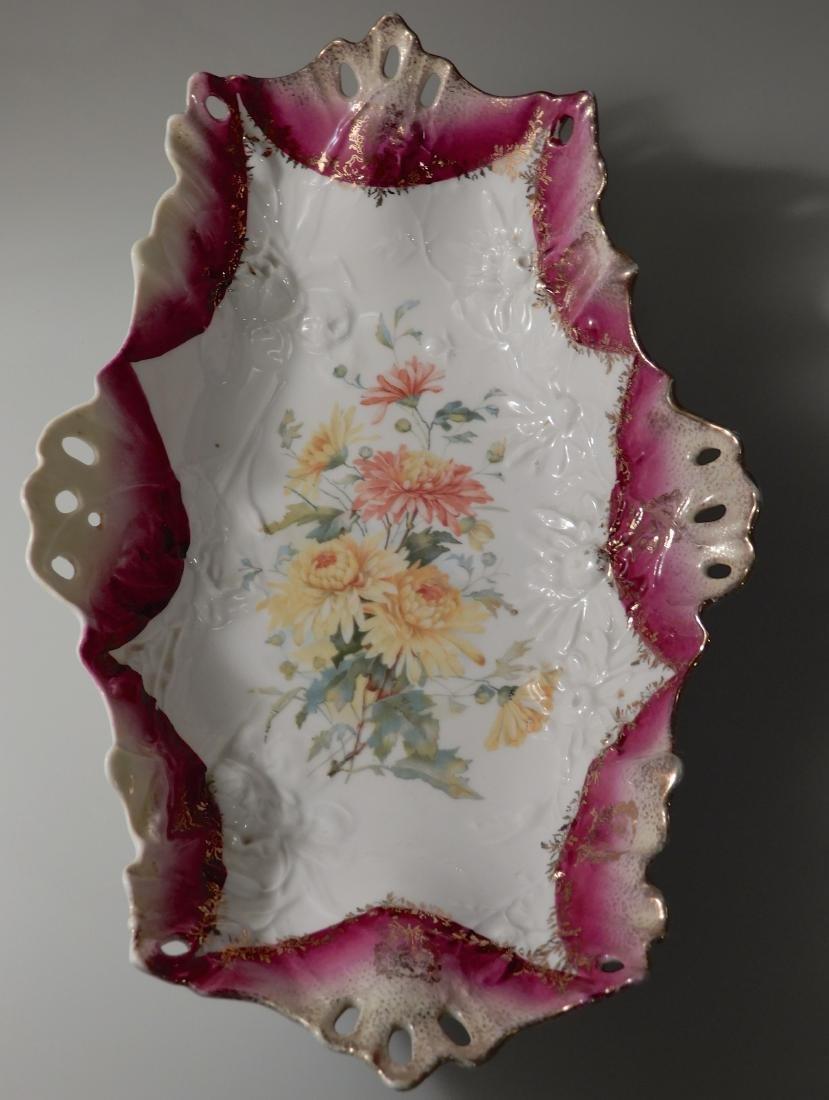 Carl Tielsch CT Germany Pierced Porcelain Bowl Relish - 3