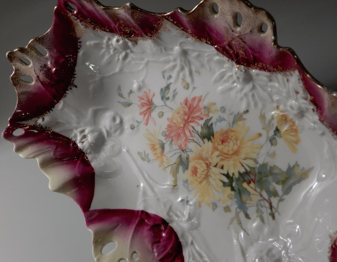 Carl Tielsch CT Germany Pierced Porcelain Bowl Relish - 4
