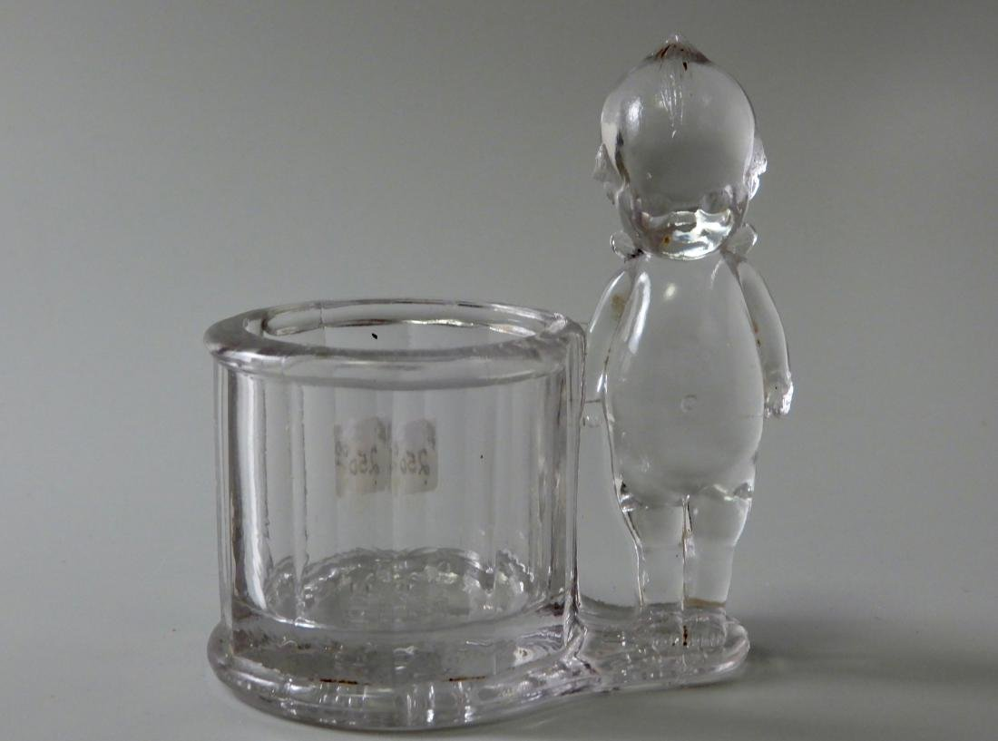 Antique c.1900 Kewpie Glass Candy Container Geo