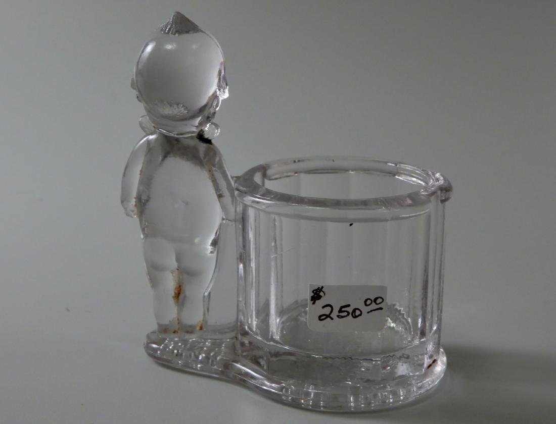 Antique c.1900 Kewpie Glass Candy Container Geo - 3