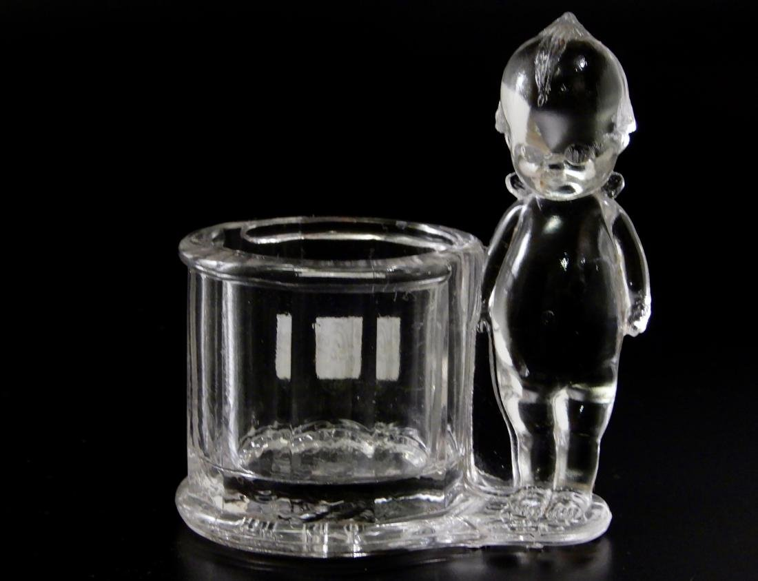 Antique c.1900 Kewpie Glass Candy Container Geo - 4