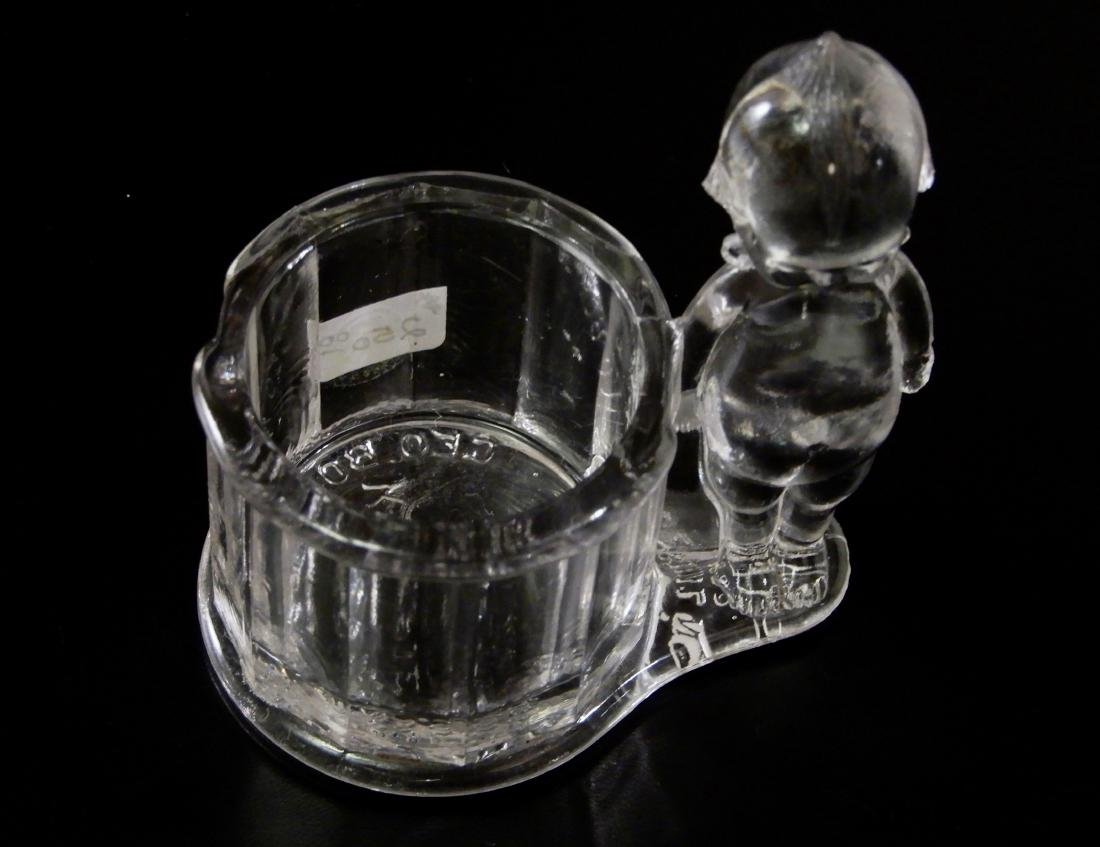 Antique c.1900 Kewpie Glass Candy Container Geo - 6