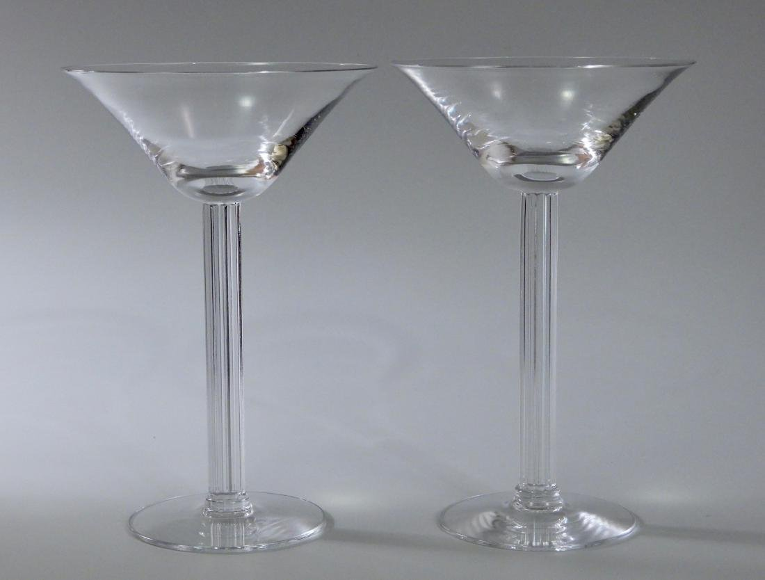 Vintage Art Deco Crystal Martini Fluted Column Stem Lot
