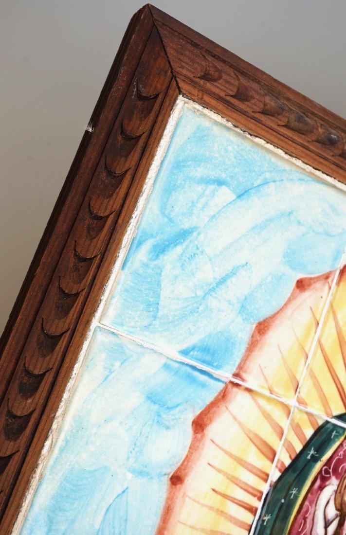 Virgen De Guadalupe Mexican Madonna Plaque Talavera - 5