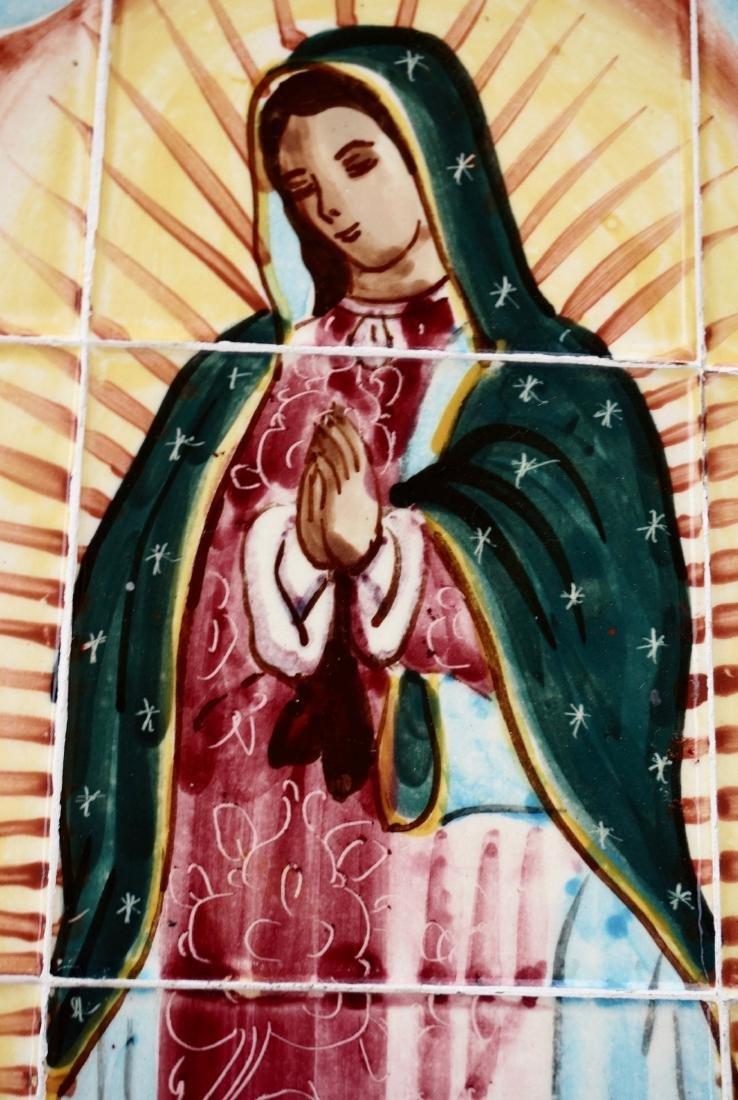 Virgen De Guadalupe Mexican Madonna Plaque Talavera - 6