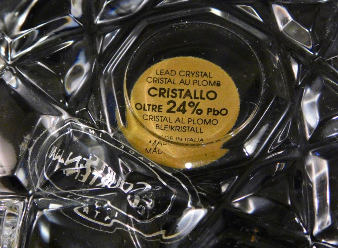 Italian Lead Crystal Vanity Jar Gilded Rose Lid - 4