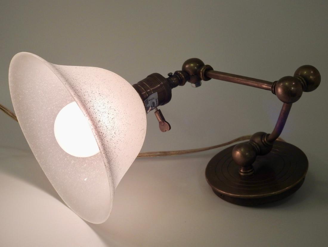 Brass Wall Mount Swivel Arm Lamp