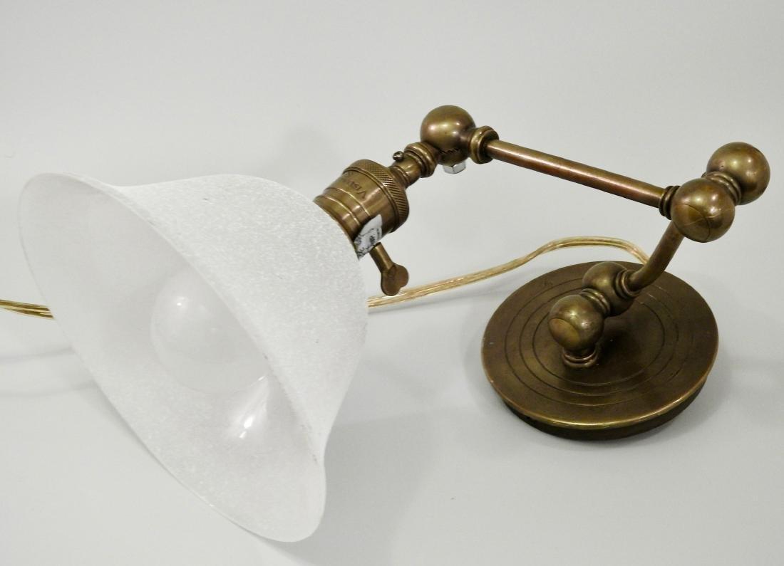 Brass Wall Mount Swivel Arm Lamp - 2