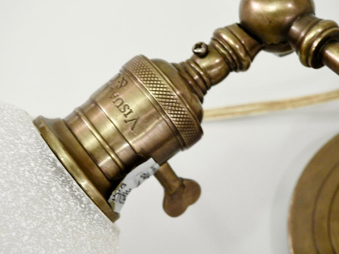 Brass Wall Mount Swivel Arm Lamp - 3