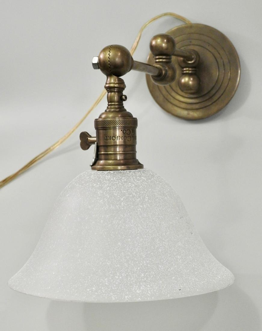 Brass Wall Mount Swivel Arm Lamp - 4