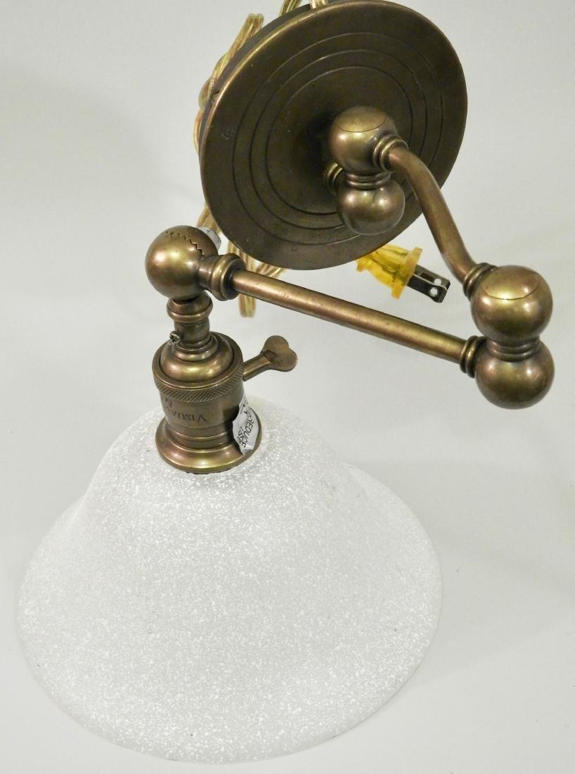 Brass Wall Mount Swivel Arm Lamp - 6