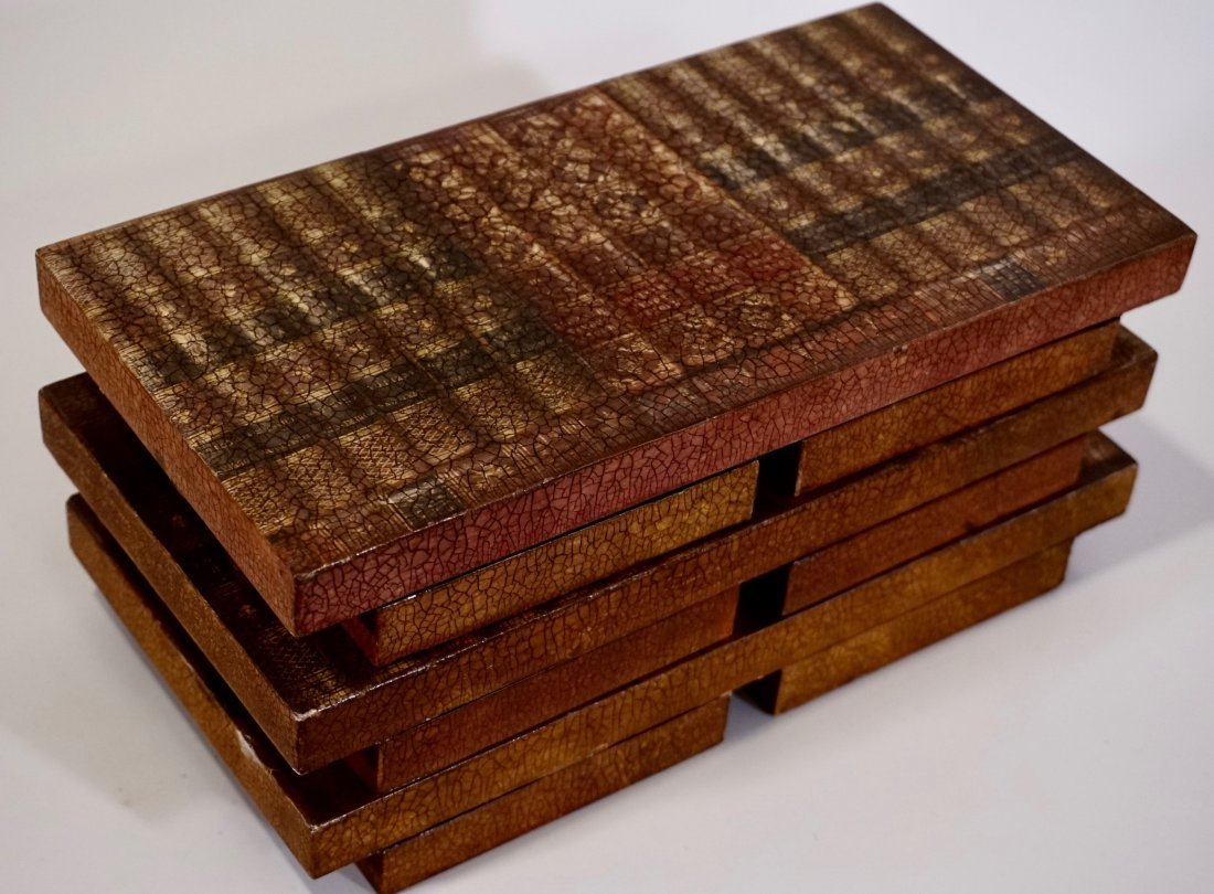 Italian Trompe Alley Faux Book Shelf Hide Foldable Tray - 3