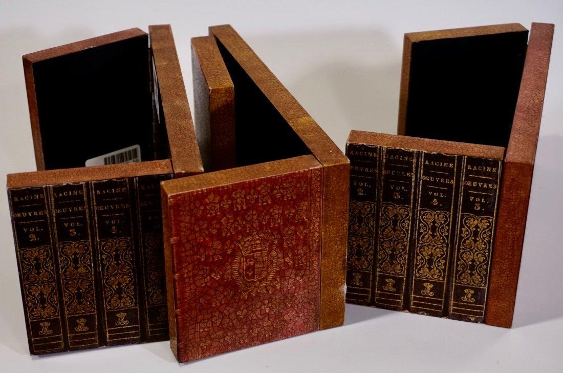 Italian Trompe Alley Faux Book Shelf Hide Foldable Tray - 5