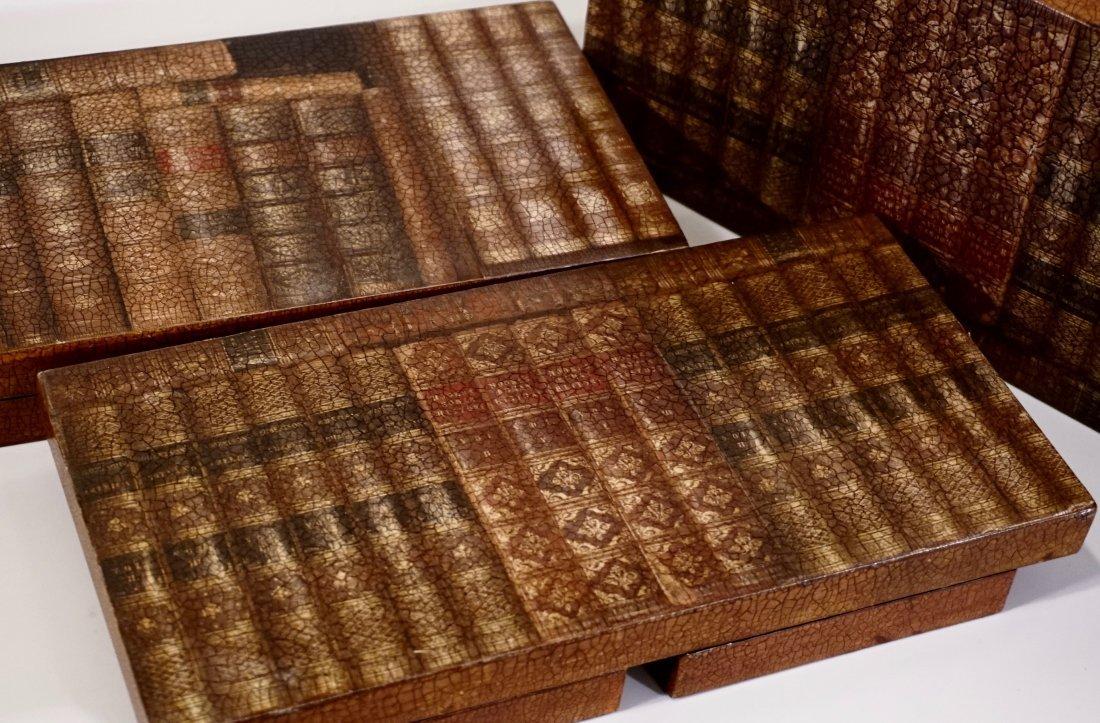 Italian Trompe Alley Faux Book Shelf Hide Foldable Tray - 8