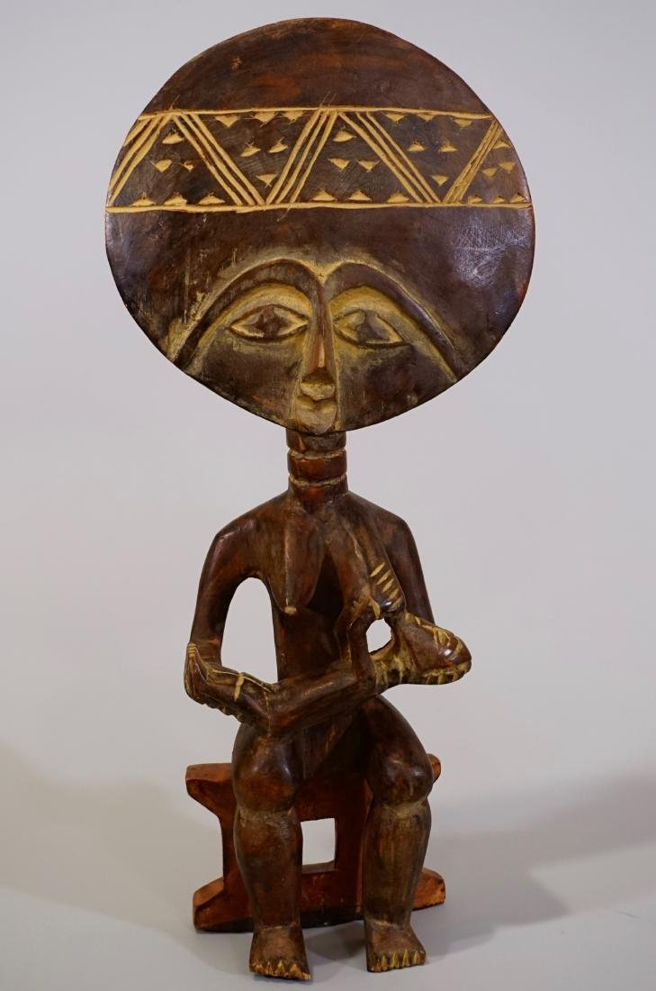 Tribal Fertility African Goddess Ethnic Figurine Carved