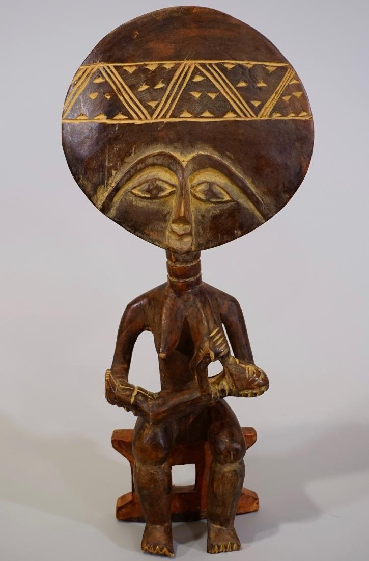 Tribal Fertility African Goddess Ethnic Figurine Carved - 6