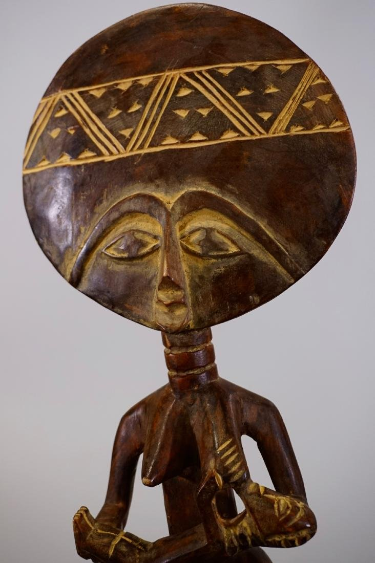 Tribal Fertility African Goddess Ethnic Figurine Carved - 7