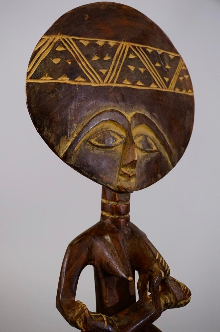 Tribal Fertility African Goddess Ethnic Figurine Carved - 8
