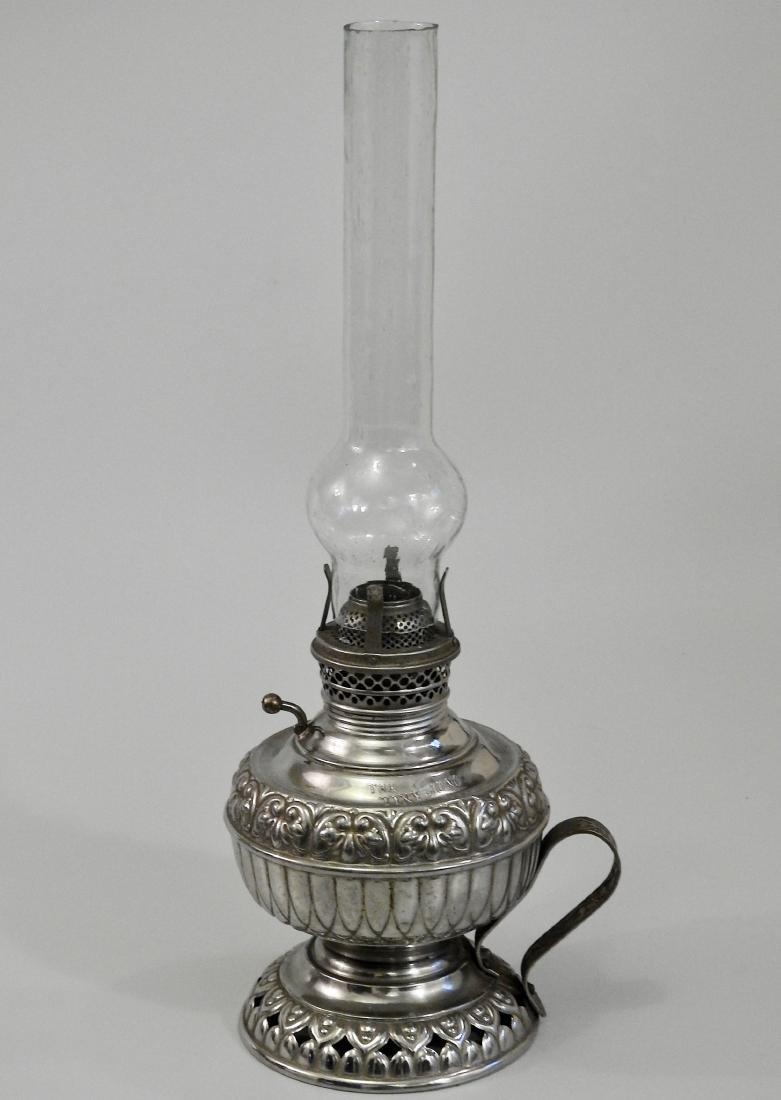 Rare Tiny Juno Antique Kerosene Lamp - 2