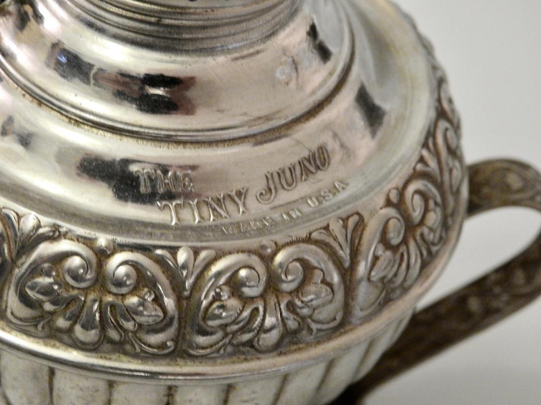 Rare Tiny Juno Antique Kerosene Lamp - 3