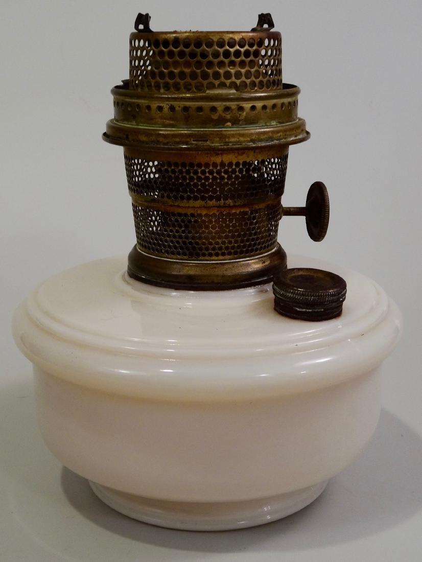 Vintage Aladdin Kerosene Lamp Glass Font Brass Burner