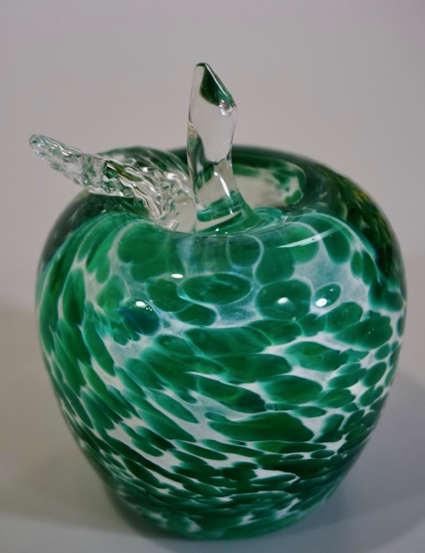 Green Apple Art Glass Paperweight