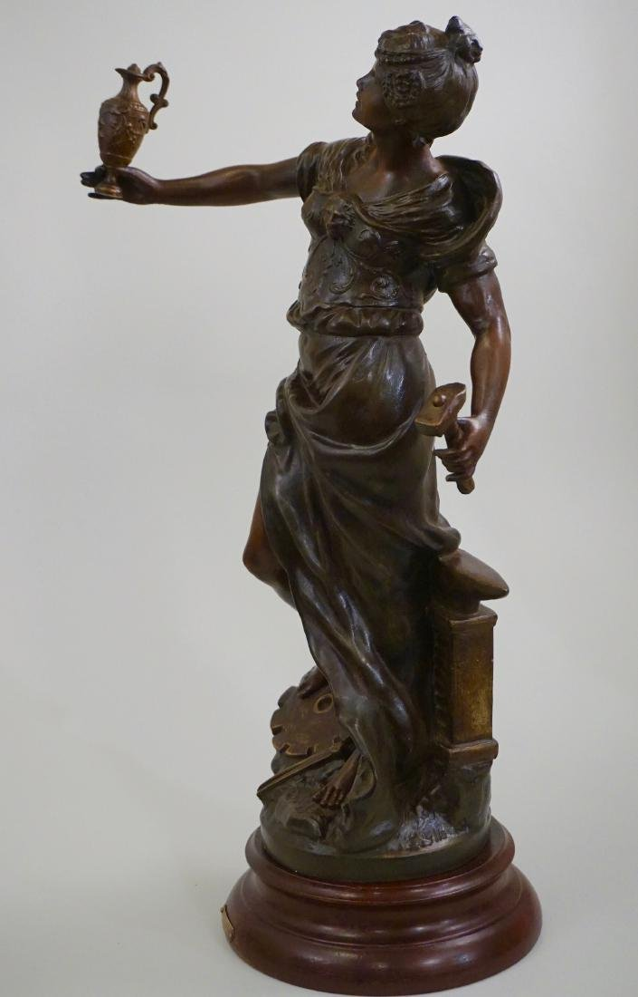 Antique French Bronzed Spelter Allegorical Statue After