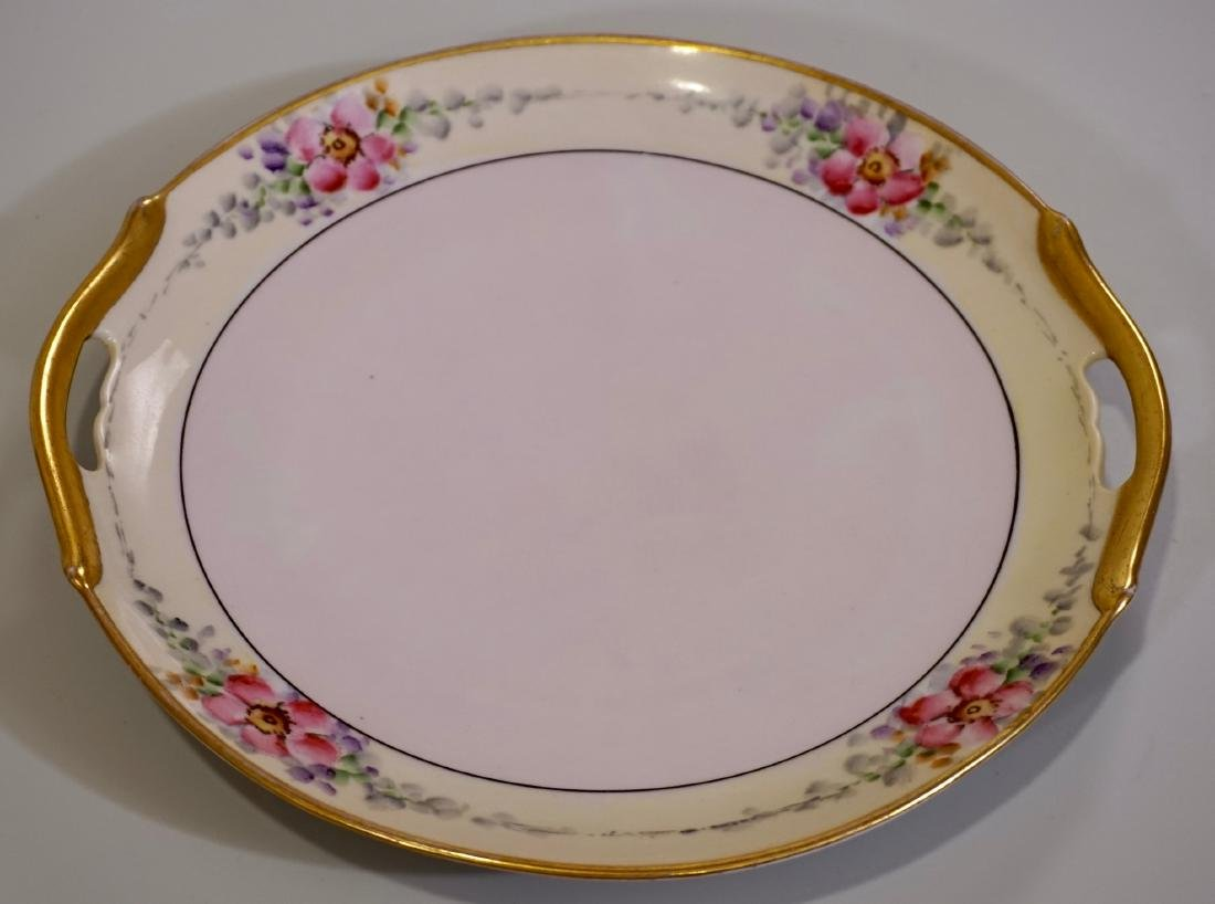 Vintage 1930Õs Art Deco Porcelain Cake Plate Hand