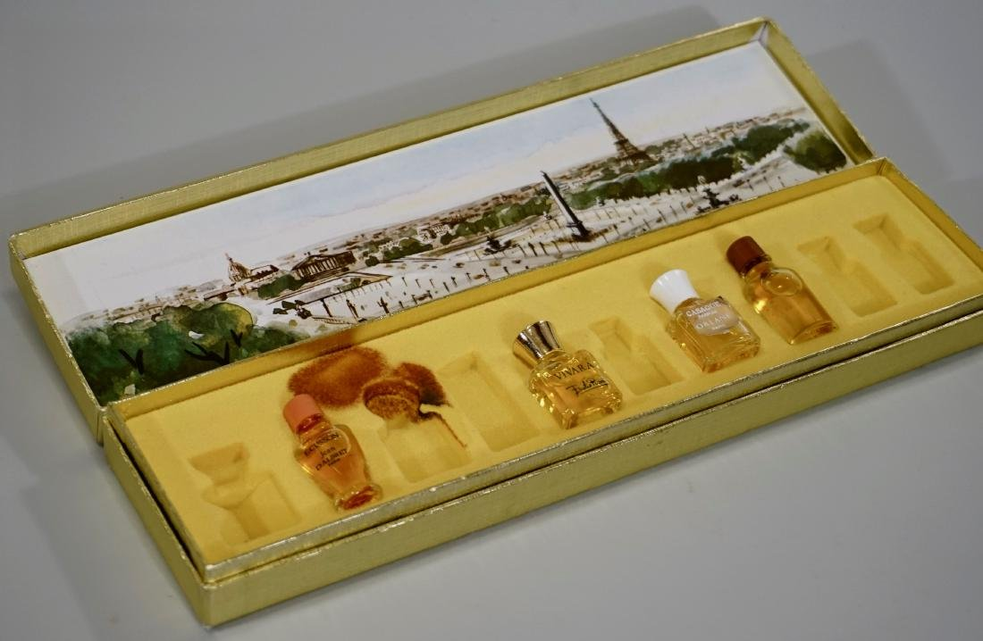 Vintage French Perfume Tester Miniature Bottles Boxed