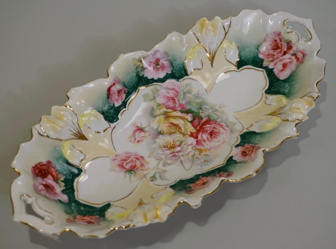 RS Prussia Celery Antique Molded Porcelain Tray