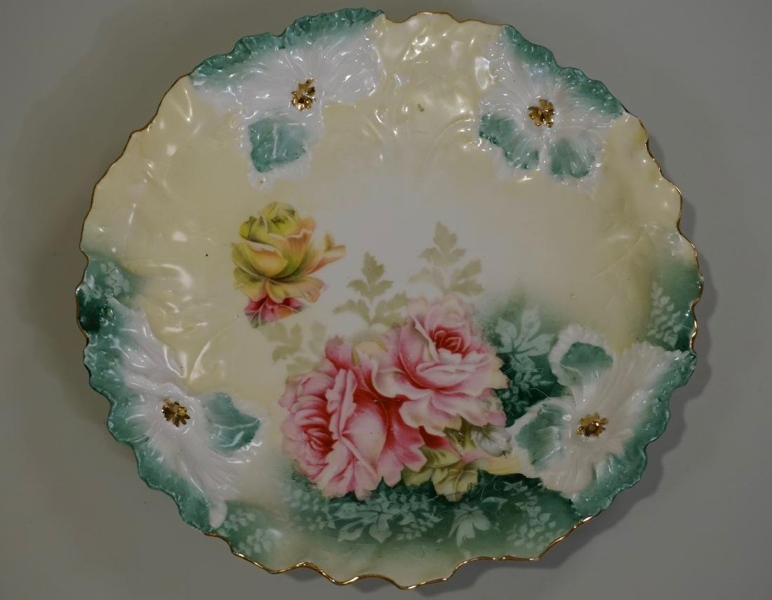 RS Prussia Carnation Mold Porcelain Plate
