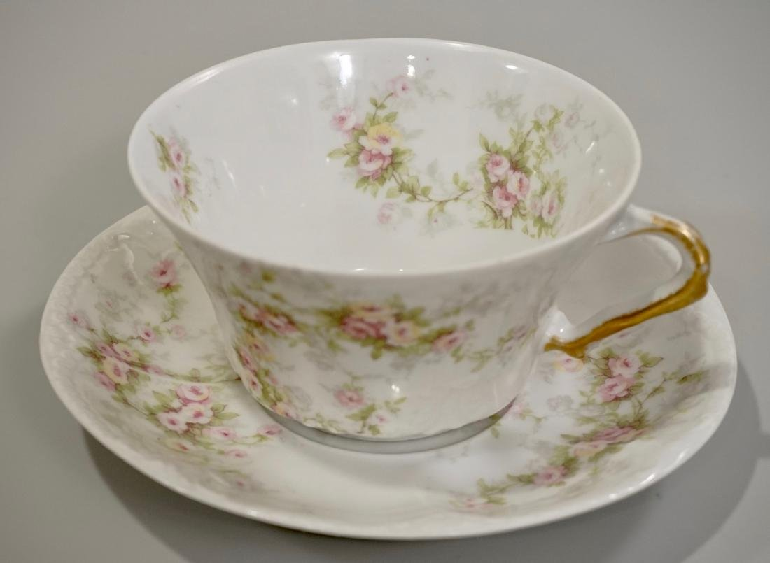 Theodore Haviland Limoges Cup Saucer Antique French