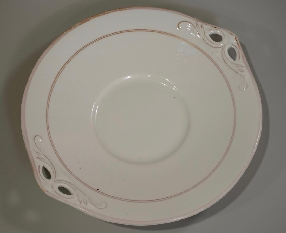 Antique China Cake Platter Handled Plate c1890