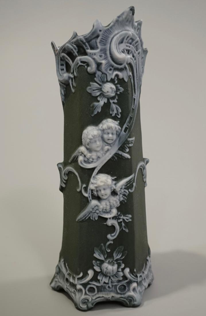 Schafer & Vater Seraphim Angel Vase Green Sage Bisque