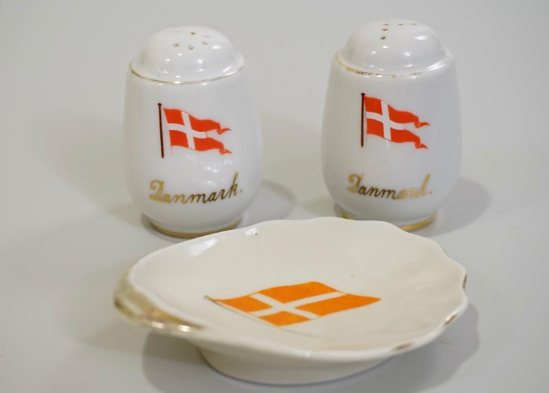 Vintage Denmark Steamer Boat Salt Pepper Shakers Naval
