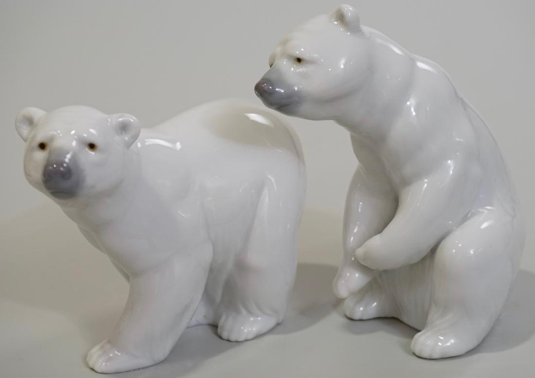 Lladro Daisa Porcelain Bear Figurines Lot of 2 Made in
