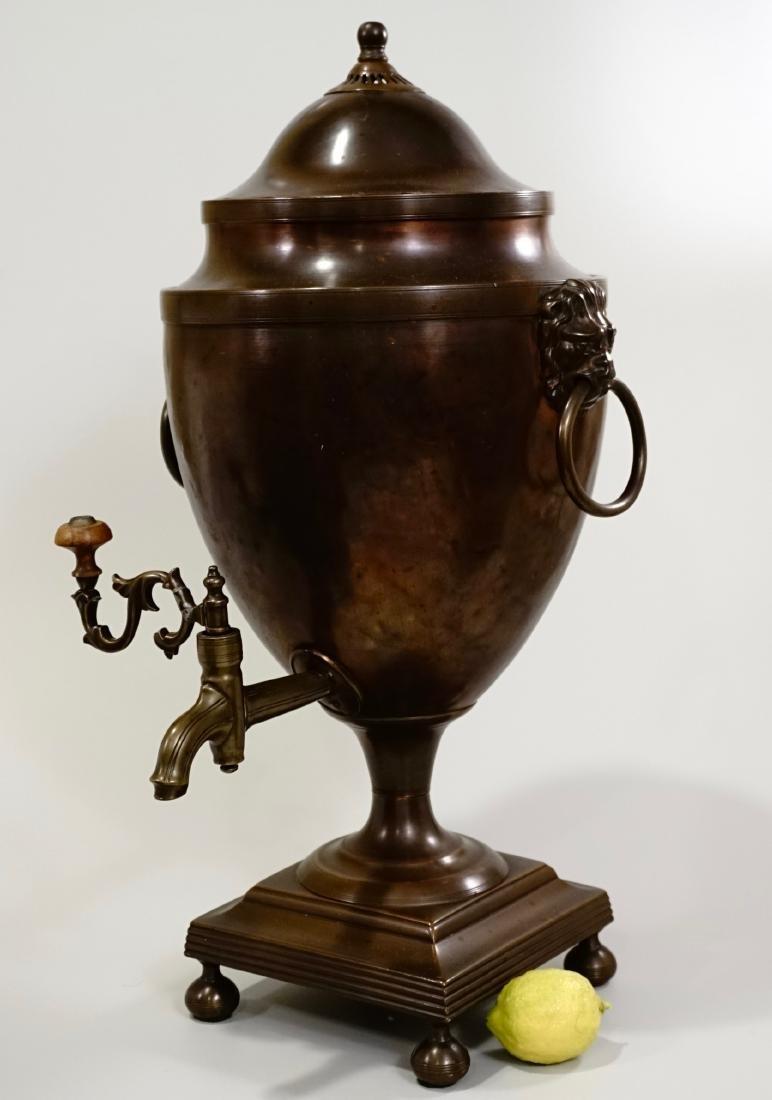 18th Century British Copper Tea Vase Early Georgian c