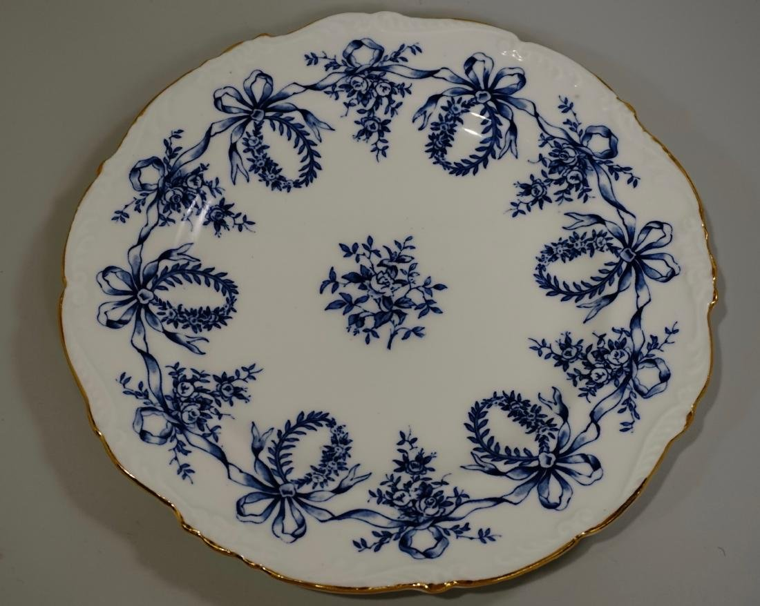 Coalport China Queensbury Blue Scalloped Vintage Plate