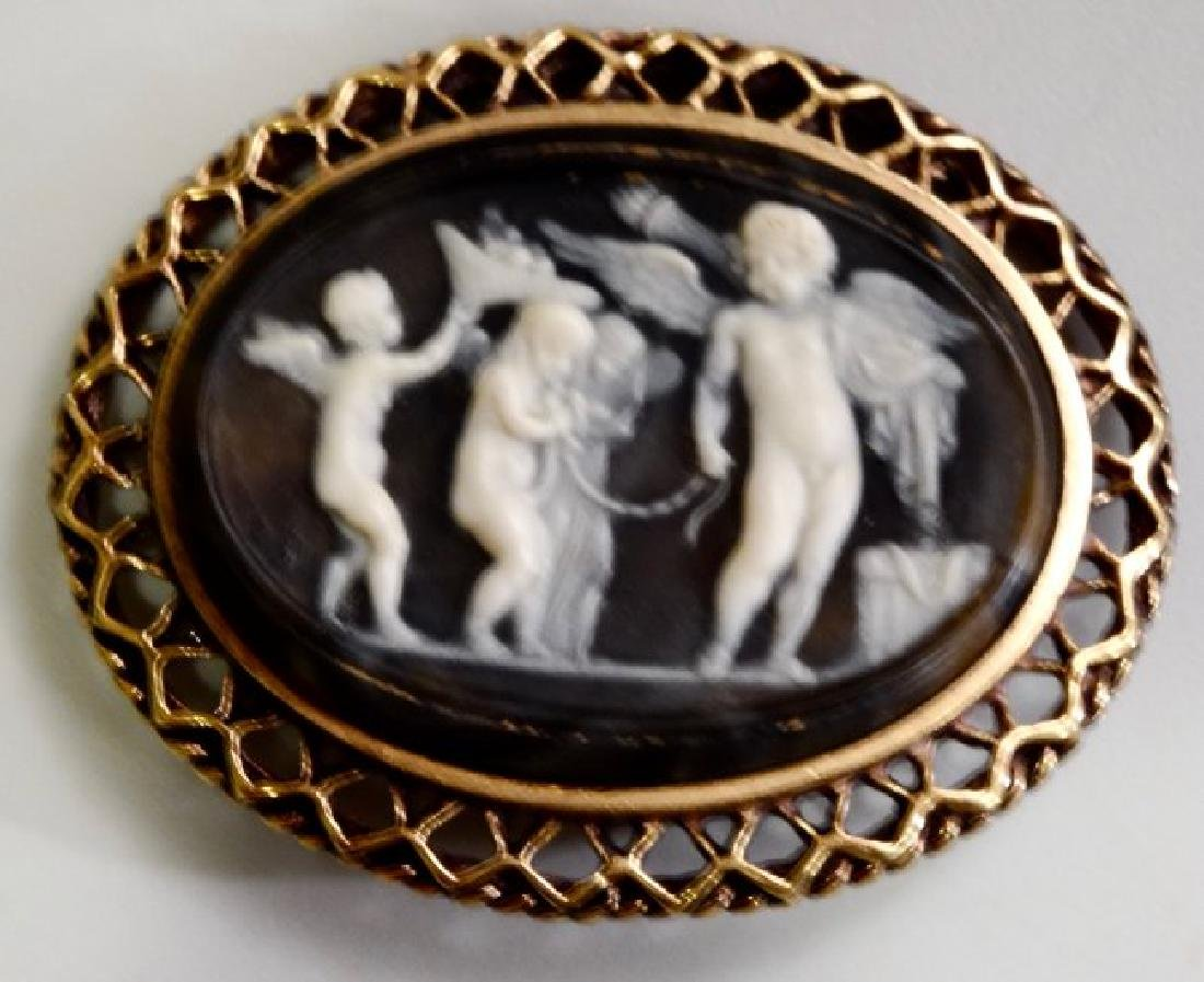 Victorian Style Cameo Brooch