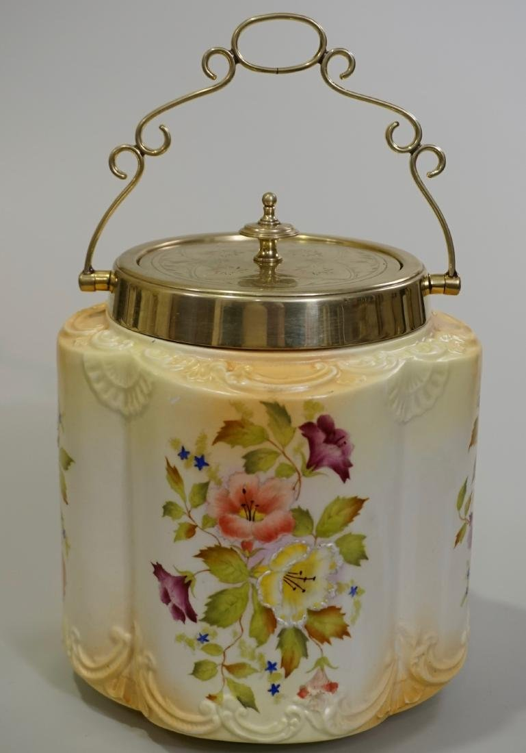 Aesthetic English Cookie Jar Nickel Silver Plated Lid