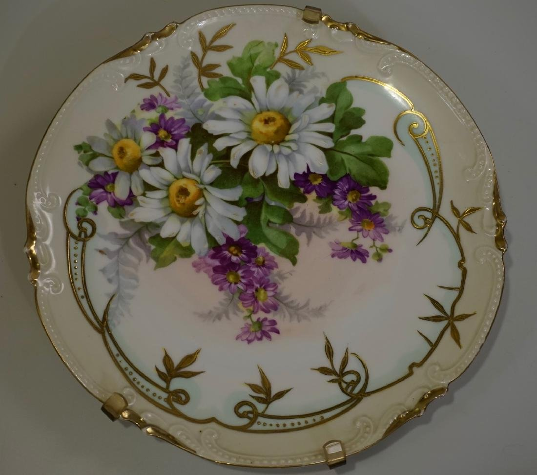 Daisies Hand Painted Antique Porcelain Plate Wall