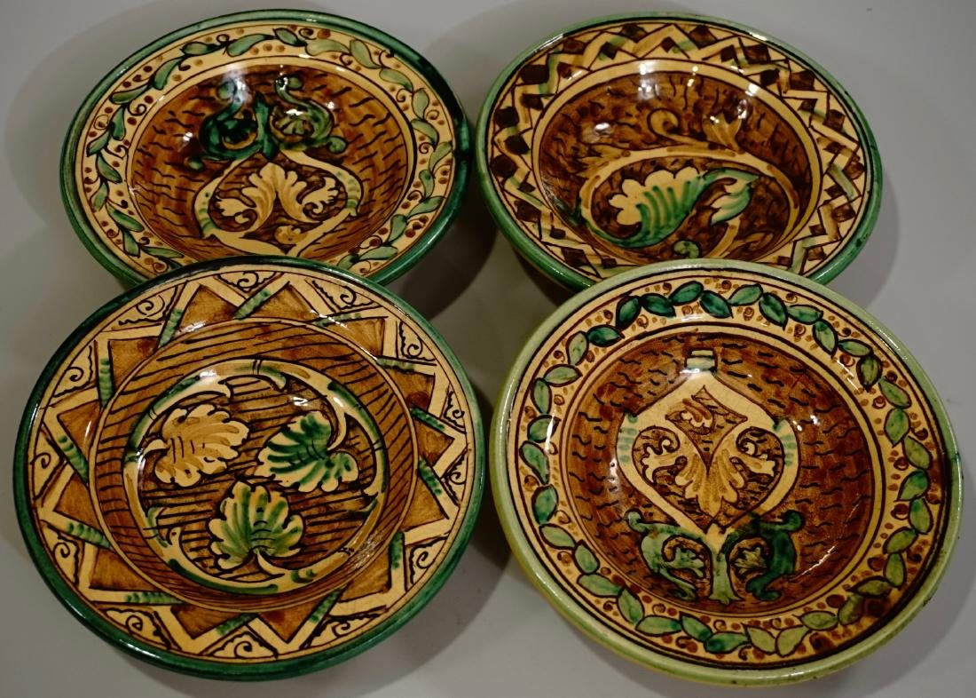 Hand Painted Italian Pottery Decorative Wall Plates Lot