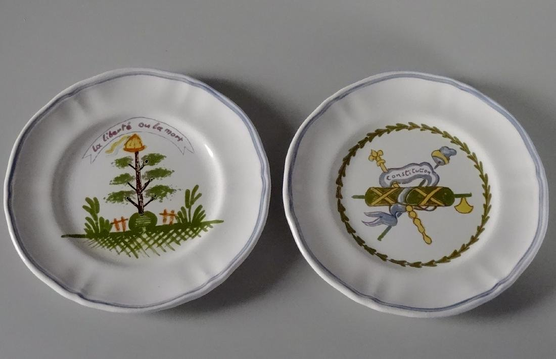 French Revolution Longchamp Faience Plates Lot of 2